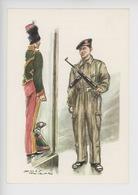 Uniformes Belges, Belgische Uniformen, Guides Troupes Blindées 1962 (James Thiriar Illustrateur) Hommage - Uniformen