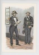 Uniformes Belges, Belgische Uniformen, Enseigne De Vaisseau Et Quartier-maitre 1853 (James Thiriar Illustrateur) Hommage - Uniformen