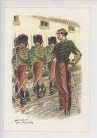 Uniformes Belges, Belgische Uniformen, Guides Officiers Et Cavaliers 1863 (James Thiriar Illustrateur) Hommage - Uniformen