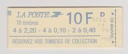 "FRANCE 1986 CARNET MIXTE N° YT 1501 Type Liberté 2,20 0,10, 0,40F  ""Tarif 1er Août 1986"" - Usage Courant"
