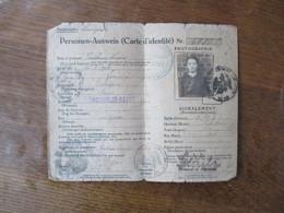 GEMEINDE LOUVIGNIES PERSONEN-AUSWEIS (CARTE D'IDENTITE) CACHEUX LOUISE LOUVIGNIES-BAVAY 2 DEC. 1917 - Documents