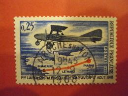 """1968      -oblitéré   N° 1565     """"1ere Liaison Postale """"         Net    1.50   Photo   1 - France"""