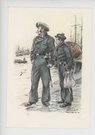 Uniformes Belges, Belgische Uniformen, Force Navale Service Maritime Douane Matelot Mousse 1840  Thiriar Illustrateur - Uniformen