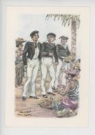 Uniformes Belges, Belgische Uniformen, Force Navale Aspirant 1850 -   Thiriar Illustrateur - Uniformen