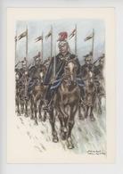 Uniformes Belges, Belgische Uniformen, Lanciers, Officiers, Cavaliers 1913 -   Thiriar Illustrateur - Uniformen