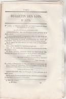Bulletin Des Lois 1176 De 1845 Débarcadère Beychevelle Gironde Pont à Manne Drôme , à Luscan Haute Garonne Péage - Décrets & Lois
