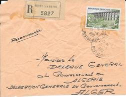 Devant De Lettre Recommandé Noisy Les Bains 1961 - Algerien (1924-1962)