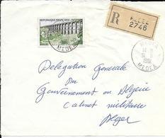 Devant De Lettre Recommandé Médéa 1961 - Algerien (1924-1962)
