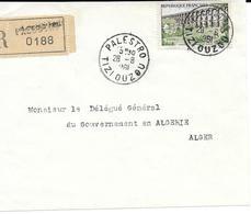 Devant De Lettre Recommandé Palestro 1961 - Algerien (1924-1962)