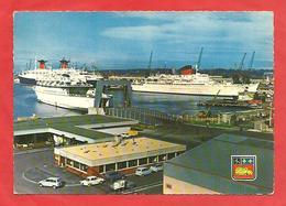 """CPSM  Paquebots Le France Et L""""Antilles Au Port Autonome Du Havre Et L Normandiy-Ferries - Paquebots"""
