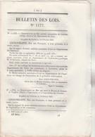 Bulletin Des Lois 1177 De 1845  Transport  Gondoles à Vapeur Chaine Sur Saône Entre Lyon Et Pont St Bernard - Décrets & Lois