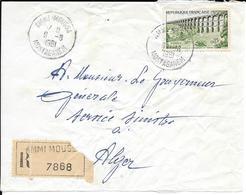Devant De Lettre Recommandé Ammi Moussa 1961 - Algerien (1924-1962)