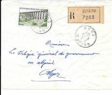 Devant De Lettre Recommandé Guiard 1961 - Algerien (1924-1962)