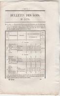 Bulletin Des Lois 1178 De 1845 Prix Froment - Tribunal Bône - Commissariat Police Sancoins Cher Alais Gard Montech - Décrets & Lois