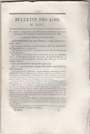 Bulletin Des Lois 1183 De 1845  356 Brevets D'invention Dont 72 Porte Plume à Réservoir 138 Alliage Pour Dents Postiches - Décrets & Lois