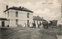 EPRAVE La GARE Du Train. Prés De Rochefort Lessive Et Han. Postée 1912. - Autres