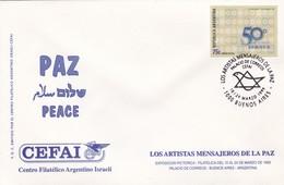 LOS ARTISTAS MENSAJEROS DE LA PAZ, CEFAI. 1999 ARGENTINA SPC JUDAISMO ISRAEL יהדות ישראל LILHU - Joodse Geloof