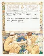 Télégramme Du 1/8/1936 (A4 Signé Herman Richir) De Namur à Haine-St-Pierre (Belgique) - Marcophilie
