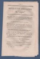 BULLETIN DES LOIS 1810 - DUC D'OTRANTE GOUVERNEUR DE ROME - DUC DE ROVIGO MINISTRE POLICE - LILLE BANQUE DE FRANCE - Décrets & Lois