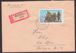 Befreiung Vom Faschismus Denkmal Buchenwald R-Brief Portogenau, DDR 1572, Marke Aus Block 32 - Briefe U. Dokumente