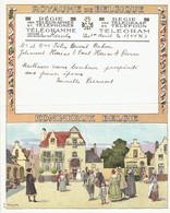 Télégramme Du 1/8/1936 (A6 Signé Am. Lynen) Du Roeulx à Haine-St-Pierre (Belgique) - Marcophilie