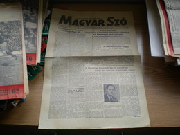 Magyar Szo Novi Sad 1949 Hungarian Newspaper In Yugoslavia - Livres, BD, Revues