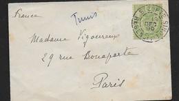 19 Décembre 1899 Tunisie  N° 11 Sur Lettre  . Armoiries. - Tunesien (1888-1955)