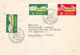 Svizzera Helvetia 1955 - Poste Alpine Del 1953 Con Annullo Giornata Francobollo - Unclassified