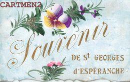 SOUVENIR DE SAINT-GEORGES-D'ESPERANCHE CARTE PEINTE MAIN FANTAISIE TRES BON ETAT 38 ISERE - Frankreich