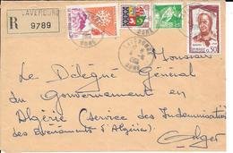 Devant De Lettre Recommandé Laverdure 1961 - Algerien (1924-1962)