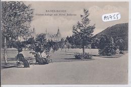 BADEN-BADEN- GOENNER-ANLAGE MIT HOTEL BELLEVUE - Baden-Baden