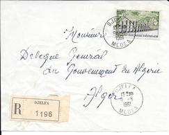 Devant De Lettre Recommandé Djelfa 1961 - Algerien (1924-1962)