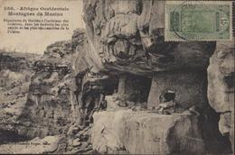 YT 87 Guinée AOF CAD Conakry Guinée Française 28 Janv 26 CPA Montagne Du Macina Taxe Au Dos 20 Ct Vert - Frans Guinee (1892-1944)