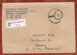 Einschreiben Reco, Noumea-Magenta Nach Frankfurt 1997 (90152) - Cartas