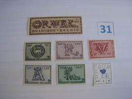 Timbres Anciens Vendus à 20% COB 625/630** De 1943   5e Orval - Other