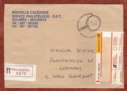 Einschreiben Reco, Noumea-Magenta Nach Frankfurt 1998 (90153) - Cartas