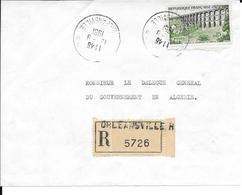 Devant De Lettre Recommandé Orléansville RP 1961 - Lettres & Documents