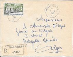 Devant De Lettre Recommandé Philippeville B 1961 - Lettres & Documents