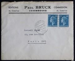 Lettre Paul Bruck De Luxembourg à Paris Du 17.06.1949 - Briefe U. Dokumente