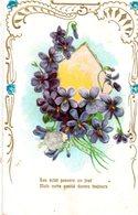 CPA - Embossée Ou Gaufrée -  Fleurs  , Son éclat Passera     - écrite - - Fancy Cards
