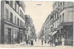 PARIS (75) Rue Ramponneau Prise De La Rue De Tourtille Commerces Animation - Arrondissement: 20