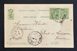 Entier Postal 1913 De Bettembourg à Pont-à-Mousson - Ganzsachen