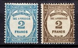 France Timbres Taxe YT N° 61/62 Neufs *. Gomme D'origine. TB. A Saisir! - 1859-1955 Neufs
