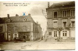 N°2454 T -cpa Martigné Briand -rue De La Poste- - Sonstige Gemeinden