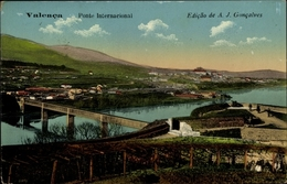 Cp Valença Portugal, Ponte Internacional, Landschaftsansicht Mit Grenzbrücke - Portugal