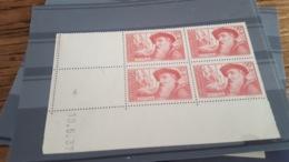 LOT 488069 TIMBRE DE FRANCE NEUF** LUXE N°344 COIN DATE 1937 - Coins Datés