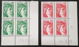 Lot Sabine N° 1970/1972 Neuf ** Gomme D'Origine En Bloc De 4  TTB - Dated Corners