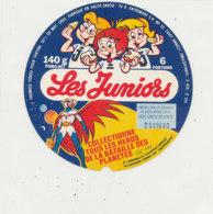 X 10 / ETIQUETTE  FROMAGE - FONDU  LES JUNIORS   6 PORTIONS LES HEROS DE LA BATAILLE DES PLANETES  Hte SAVOIE - Cheese