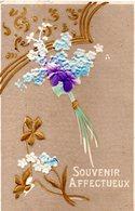 CPA - Embossée Ou Gaufrée  -  Fleurs  , Souvenir Affectueux        - écrite - - Fancy Cards