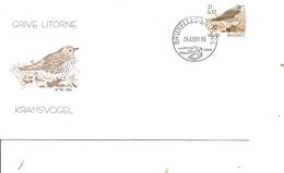 Belgique - Buzin - Oideaux -Grive Litorne (  FDC De 2001 à Voir) - FDC